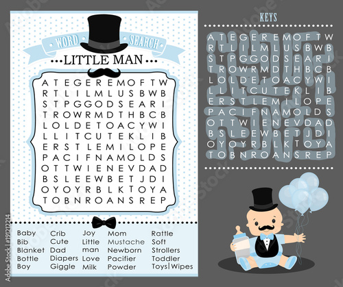 Little man party game first birthday baby shower word search little man party game first birthday baby shower word search puzzle cute maxwellsz