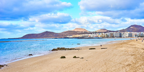 "Beach of ""Las Canteras"" in Las Palmas on Grand Canary Island - Second largest City Beach in the world"
