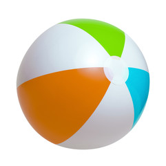 Beach ball on a white