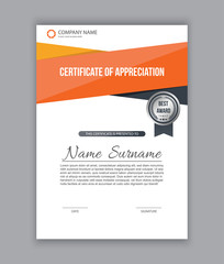 Certificate template ,diploma. Vector illustration