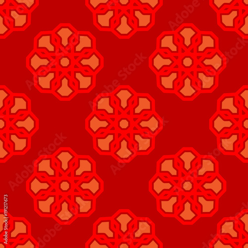 classic ornament pattern orange classic ornament pattern on red background it can be used as