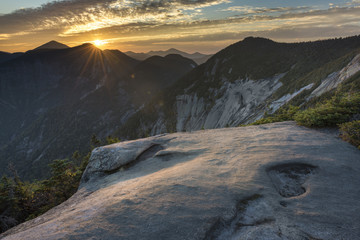 Sunset over Pyramid Peak in the Adirondack Mountains