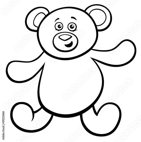 teddy bear cartoon toy character color book\