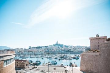 Türaufkleber Port Marseille et son port