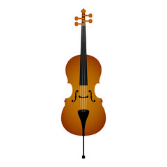 Isolated cello. Musical instrument