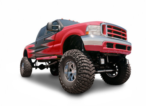 Red 4x4 Pickup Truck