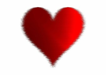 Abstract red heart isolated on a white backgroun. Love symbol icon illustration.