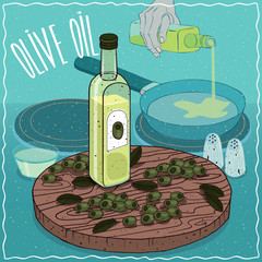 Olive oil used for frying food
