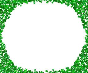 Shamrock frame vector. Clover leaves background. Saint Patricks day