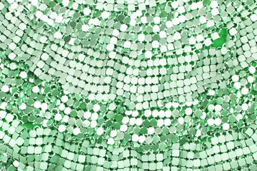 Fashion sequin design designer dress fabric cloth material. Sequins as background.