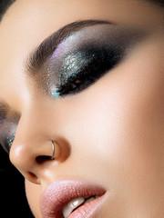 Closeup shot of beautiful woman