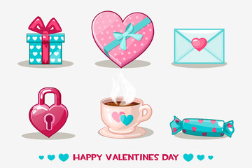 love collection valentines day icon