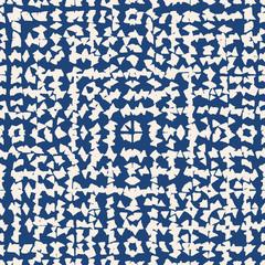 Tie dye indigo seamless pattern.