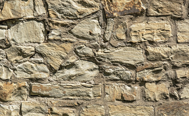 Stone wall texture background of old ruins