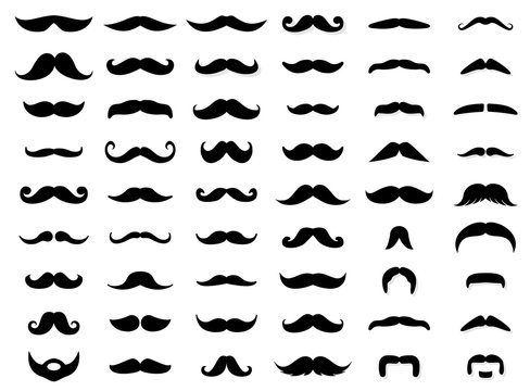 Mustache icon collection