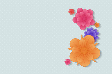 Floral background with copyspace. Layout of card for Mother's Day, Woman's Day and Valentine's Day. Vector.