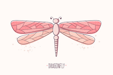 Dragonfly Hand Drawn.