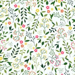Seamless Spring Floral Pattern.