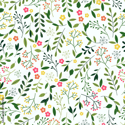 seamless spring floral pattern stock image and royalty free