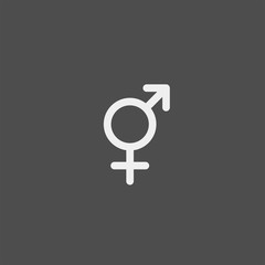 Gender flat vector icon