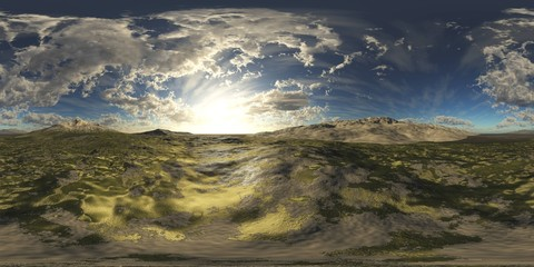 environment map ,HDRI High resolution map. Round panorama, spherical panorama, equidistant projection, land under heaven