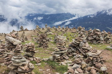 Stoanerne Mandln auf dem Gipfel