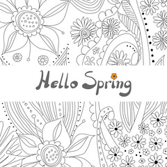 Floral background - floral pattern with copy space suitable for greeting cards or postcards