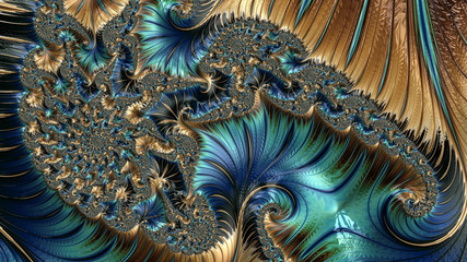An abstract computer generated fractal design. A fractal is a never-ending pattern. Fractals are infinitely complex patterns that are self-similar across different scales.