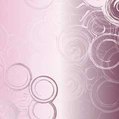 Abstract  background with circles from monograms.
