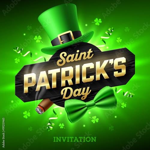 Saint Patrick\'s Day party invitation, Feast of Saint Patrick, 17 ...