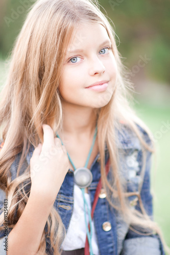 """Smiling blonde teenage girl 14-15 year old with long hair ..."