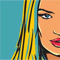 pop art comic woman