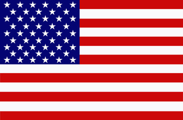 Bright background with flag of the United States of America.