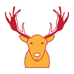 cartoon deer with horns