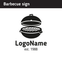 Grill logo in full size, barbecue