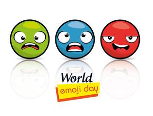 emoji emoticon character background collection vector illustration graphic design