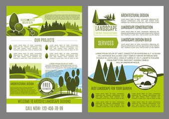 Landscape design business brochure template