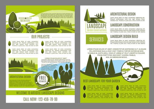 Landscape design business brochure template