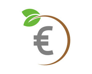 euro plant money currency price finance image vector icon logo symbol