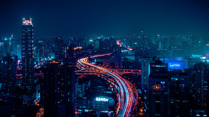 Shanghai Nightview Fotomurales