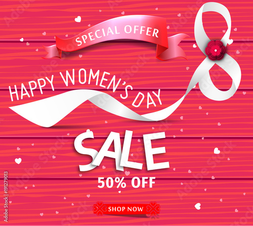 Womens day sale banner template for social media advertising womens day sale banner template for social media advertising invitation or poster design vector stopboris Choice Image