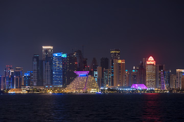 Skyscrapers in Doha Qatar