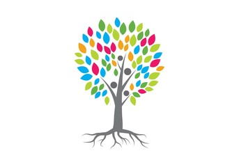 family tree logo vector