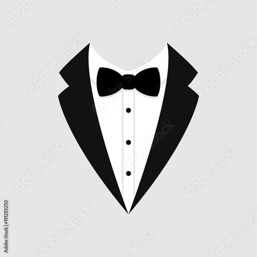 """""""Man's Jacket. Tuxedo. Weddind Suit With Bow Tie. Vector"""