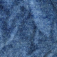 Texture of jeans textile close up. Jeans denim background