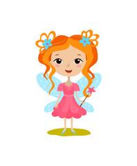 Cute girl in a good fairy costume