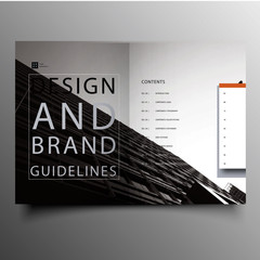 Modern corporate brochure with shapes