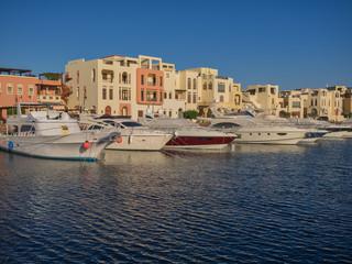 Tourist resort in Aqaba Jordan where the ferries from Egypt land