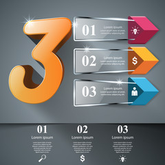 Business Infographics origami style Vector illustration. Eps 10