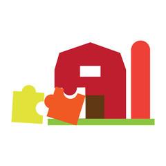 Puzzle Farm Logo Icon Design